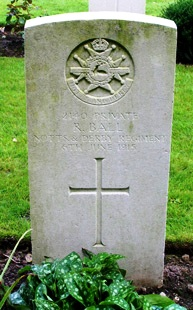 Private Robert Ball's grave