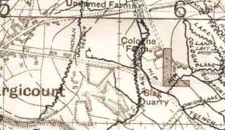 Cologne Farm Trench Map