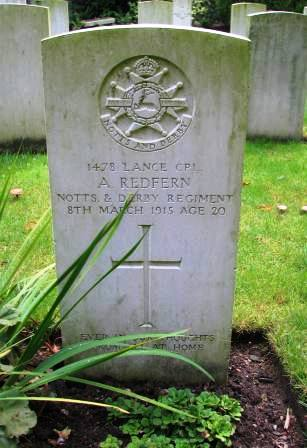 L/Cpl Redfern's Grave