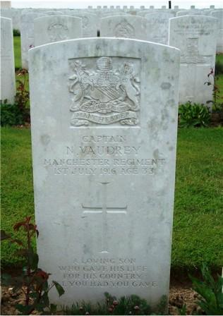 Captain Norman Vaudrey's grave